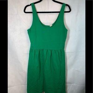 J.Crew Medium Button Back Sundress Dress Green EUC